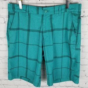 OP | plaid 4-way stretch quick dry shorts